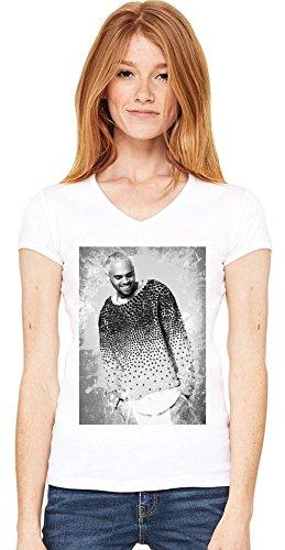 Happy Chris Brown Damen V-Ausschnitt T-Shirt XX-Large
