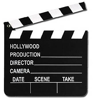 Hollywood Wooden Clapper Board