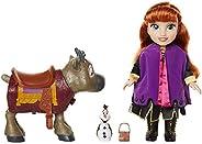 Frozen 2- Disney Muñeca Princesa Anna con Figuras de Olaf y el Reno Sven de Frozen II Set, Color replicas de l