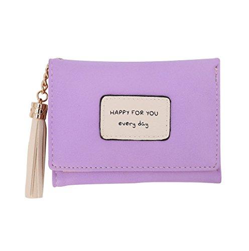 Dairyshop Borsa della borsa della moneta del supporto della carta del raccoglitore del cuoio delle donne (colore rosa) viola