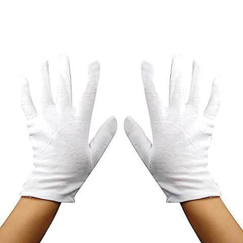 Baumwollhandschuhe Eine Größe Farbe Weiß für mehrere Nutzen für Erwachsene und junge Kinder