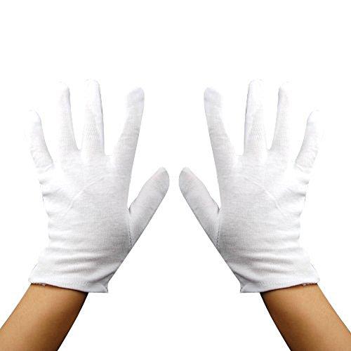 Baumwollhandschuhe Eine Größe Farbe Weiß für mehrere Nutzen für Erwachsene und junge (Mickey Maus Kostüme Maus Und Minnie Pluto)