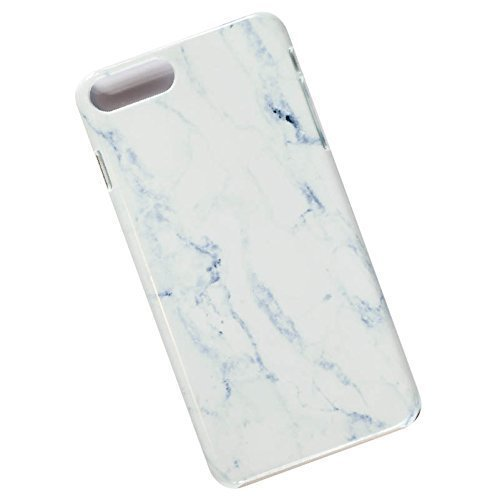 Slim Case for iPhone 7 Plus, 8 Plus. Tasche Cover. White Marble 1.