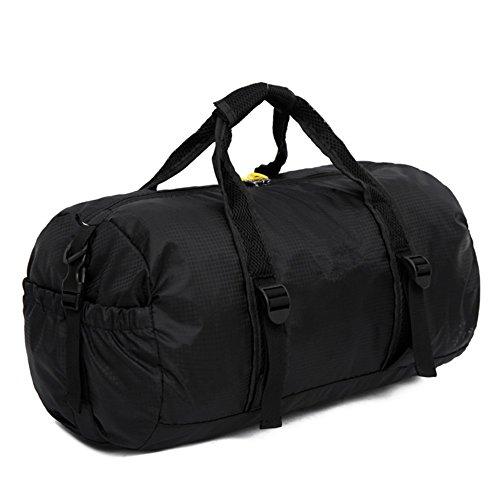 ZYPMM Herren Outdoor Tasche faltbare Reisetaschen große Kapazität Umhängetasche weibliche Fitness-Seesack Schwarz