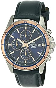 Casio Men's Dial Leather Band Watch - EFR-526L-2A