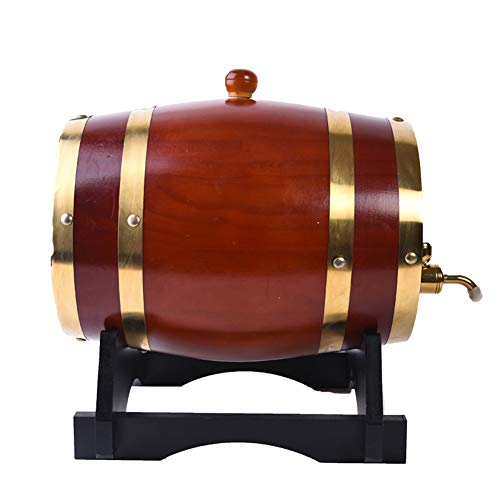 QWET Vin Vieilli en fût de chêne, Brun, pour Alcool de Stockage, Eau de Vie, Whisky,10L