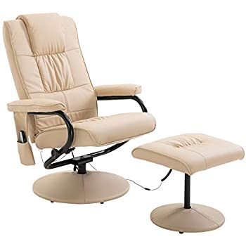 Homcom Faux Leather Massage Recliner Chair Easy Sofa