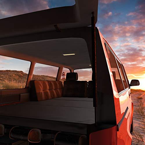MSS® Matratze für T4 T5 T6 VW Bus Multivan Klappmatratze anthrazit wahlweise mit Lounge Kissen und Tasche 185 x 147 x 8cm