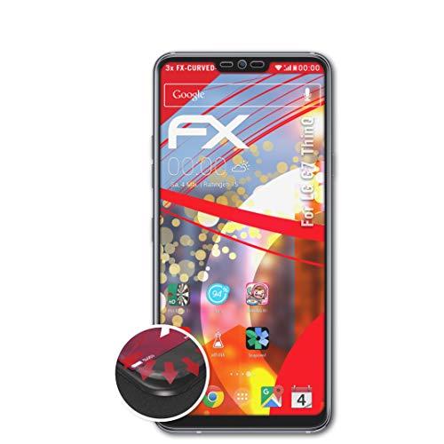 atFolix Schutzfolie passend für LG G7 ThinQ Folie, entspiegelnde & Flexible FX Bildschirmschutzfolie (3X)
