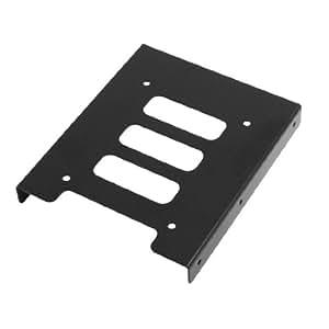 "SODIAL(R) Black Metal 2.5"" to 3.5"" Mounting Adapter Bracket Hard Drive Holder"