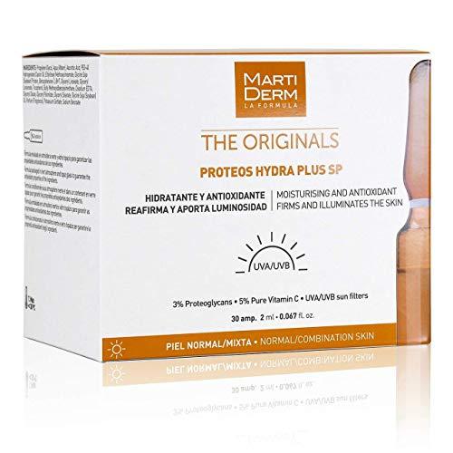 Martiderm Fiale di proteoglicane protezione SPF, 30 pezzi, Vitamina C per il viso e Proteoglicani, originali Hydra Plus