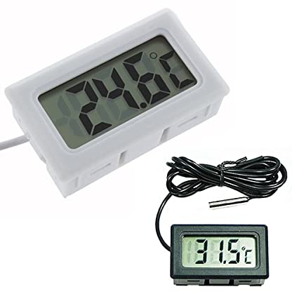 Livecity Aquarium LCD Digital Thermometer Fish Tank Water -50℃ to +110℃ (White) 1