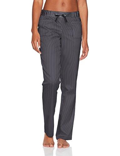 Marc O'Polo Body & Beach Damen Mix Pants Schlafanzughose, Schwarz (Blauschwarz 001), 38 (Herstellergröße: M)