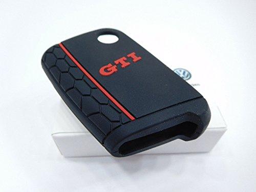 Original VW Golf 7 (5G) Schlüsselcover GTI Design Zündschlüssel Schlüsselhülle Blende Cover schwarz rot 000087012ALGCA