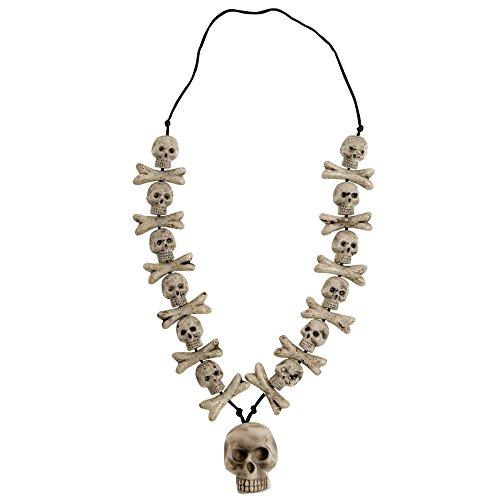 Skulls & Cross Bones Necklaces Halloween Jewellery for Fancy Dress Costumes Accessories Accessory