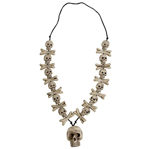 Widmann - Halskette Totenkopf (Voodoo Pirat Kostüm)