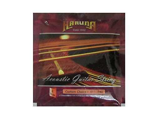 SG Musical - Karuna Acoustic Guitar Stainless steel Strings (pack Of 6)  available at amazon for Rs.199