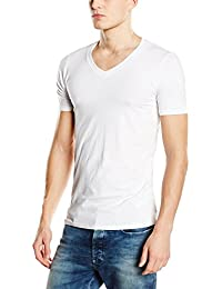 684cbf02d76 Stedman Stars ST9690 Dean Mens Deep V Neck T-Shirt White XL  Apparel