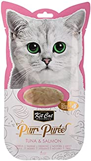 Kit-Cat Purr Puree Tuna & Salmon Wet Cat Treat Tubes 4