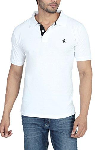 The Cotton Company Men's Cotton Polo T-Shirt (Polo001_White_L_White)