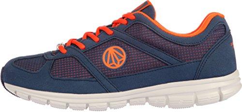 Paperplanes - 1201 unisexe légère en maille Motif Baskets de marche Bleu - 1203-Navy Orange
