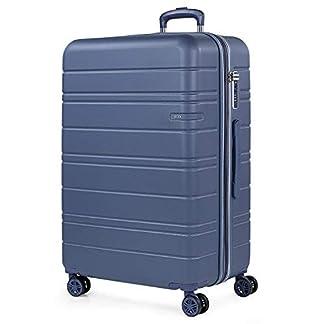 JASLEN – Maleta Grande de Viaje 4 Ruedas Trolley Extensible Rígida de ABS. Dura Práctica Cómoda Ligera y Bonita Marca y Estilo. Candado TSA. Viajes Largos.171270