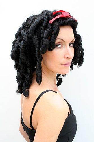 3 Perücke Barock SCHWARZ Karibik Gothic Cosplay (Sexy Piraten Haar)