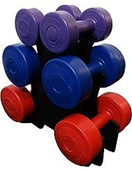 BodyRip–Unisex mancuernas recubiertas de vinilo Set, multicolor, 35x 35x 20cm