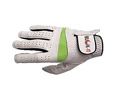 Gant de Golf, en cuir Cabretta, de Blok-iT (L, Droite) - Dunlop Golf Irons