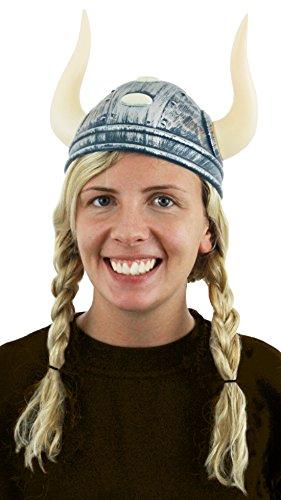 Elmetto da vichingo, accessorio per costume da donna, guerriero medievale