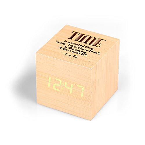 Personalisierte Kleine Kubus Wecker- Kostenlose Gravur - Beste Geschenek für Vater, Bruder, Jugendliche und Kinder