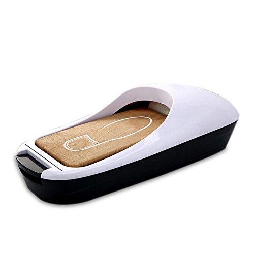 Baidefeng macchina per scarpe dispenser automatici per scarpe, medici, casa e ufficio (dispenser di scarpe d'oro + copriscarpe),white