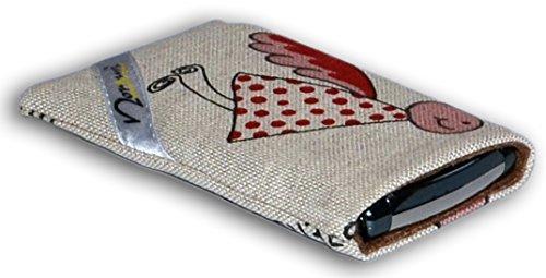 Norrun Handytasche / Handyhülle # Modell Elfgard # ersetzt die Handy-Tasche von Hersteller / Modell Samsung SGH-S500i # maßgeschneidert # mit einseitig eingenähtem Strahlenschutz gegen Elektro-Smog # Mikrofasereinlage # Made in Germany