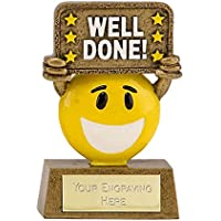 "3.5"" Happy Chappy Well Done Multi Award Trophy plus Free Engraving up to 30 Letters A1640"