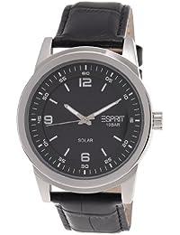 Esprit Herren-Armbanduhr XL Solaro Analog Quarz Leder ES105641001