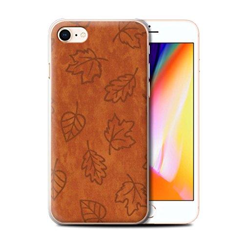 Stuff4 Hülle / Case für Apple iPhone 8 / Rot Muster / Blatt Muster/Textil Effekt Kollektion Orange