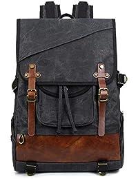 37111a616ebe3 Neuleben Vintage Rucksack Damen Herren Wasserdicht gewachst Canvas  Rucksäcke Daypack Backpack Reiserucksack für Uni Reise…