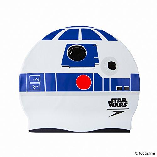 Speedo Kinder R2-D2 Junior Mütze, Weiß/Blau, One Size