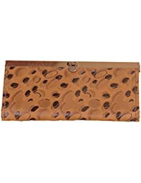 The Label By Deviya Komal Women's Faux Leather Polka Print Handbag(Two Pockets, Brown)