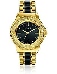 VERSUS by VERSACE SH7100013 , Reloj de señora TOKYO, Dorado y negro, Cristales de