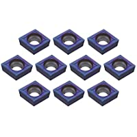 Farwind 10pcs HRC45 Azul Nano CCMT09T304 VP15TF Carbide Insert para SCLCR/SCLCL Turning Tool Holder