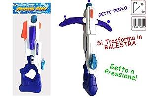 Toys Garden SRL Fusil Agua con Ballesta con 3chorros 26754, Multicolor, 851065