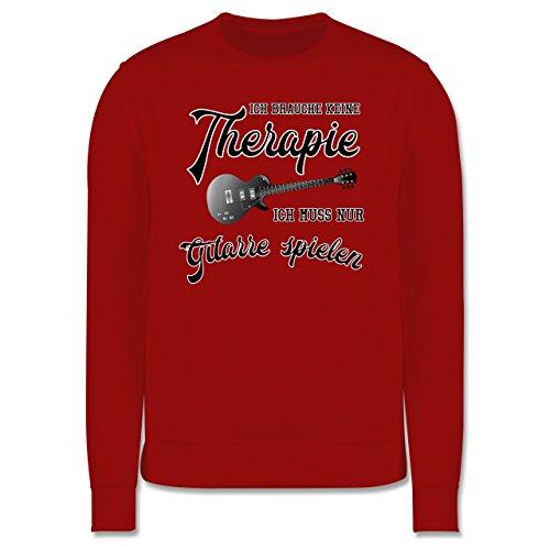 Instrumente - Ich brauche keine Therapie ich muss nur Gitarre spielen - Herren Premium Pullover Rot