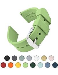 Archer Watch Straps | Repuesto de Correa Reloj de Silicona para Hombre y Mujer, Caucho Fácil de Abrochar para Relojes y Smartwatch | Verde Té, 18mm