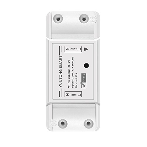 1 Pack Smart Switch Schalter, FORNORM WIFI Switch Kompatibel mit Alexa (Echo, Echo Dot)/ Google Home APP Fernbedienung Sprachsteuerung Countdown & Timer für iOS Android AC 90-250V 2200W