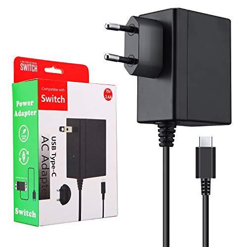 ECHTPower Netzteil für Nintendo Switch, PD Typ C Ladegerät TV-Modus Unterstützt, Reise Ladegerät Charger für Nintendo Switch und Andere Typ C Geräte