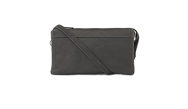 d551689d4396d RE DESIGNED by Dixie Clutch zum Umhängen Lisa Dark Grey  Amazon.de  Schuhe    Handtaschen