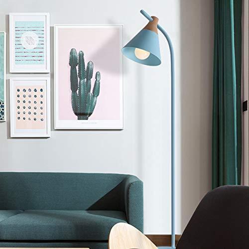 LAMPES DE PLANCHER TORCHIERES ZXC YWXLight Macaron lampadaire lampe de table verticale (Couleur : Blue)