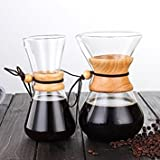 Tradico® 400ml 800ml Pour Over Coffee Maker Classic Series Glass Coffeemaker