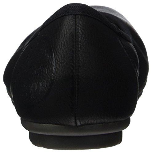 s.Oliver 22115, Ballerines Femme Noir (BLACK 001)